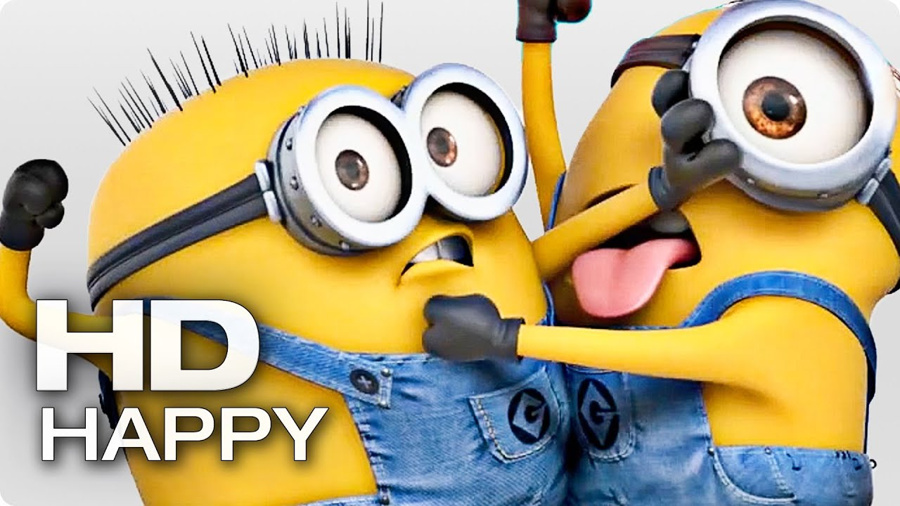 happy HAPPY   Pharrell Williams (feat. Minions)   YouTube happy