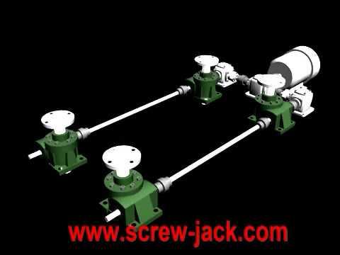 Screw Jack Lift Table Has Synchronized Lifting Self