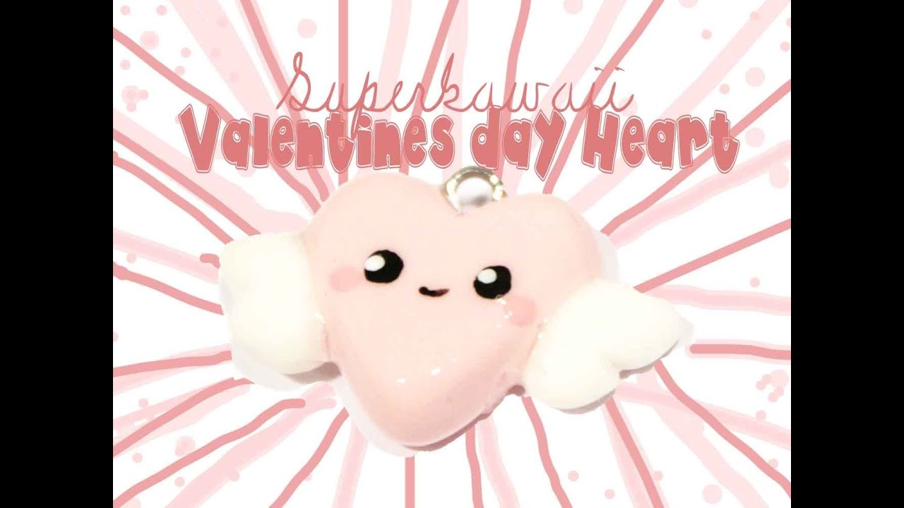 Valentines Day Heart Kawaii Friday 59 (Tutorial In Polymer Clay)