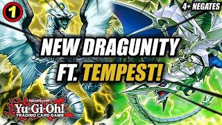 yu gi oh new dragunity link ft tempest dragon ruler of the storms deck profile in action combos