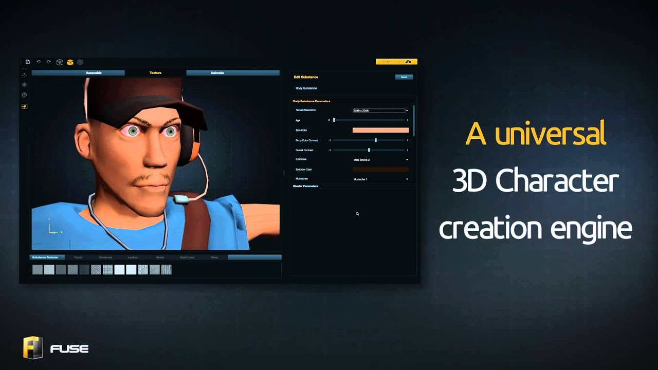 Mixamo announces fuse the new universal 3d character 3d builder online