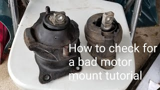 HOW TO DIAGNOSE A BAD ACURA HONDA MOTOR MOUNT KNOCK QUICK AND EASY