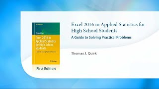 Excel 2016 in Applied Statistics for High School Students