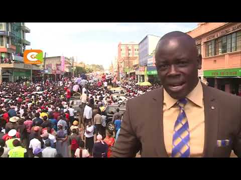 Eldoret town breaks  into  celebrations after the  Supreme Court ruling.