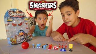 ABRINDO BRINQUEDOS SURPRESAS SMASHERS -  O incrível brinquedo que estoura e vem surpresa dentro!