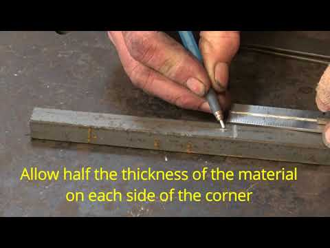 "forging double upset square corners  - ""wrought iron"" grill part 2"