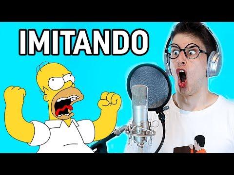 IMITANDO VOCES DE DIBUJOS ANIMADOS FAMOSOS!
