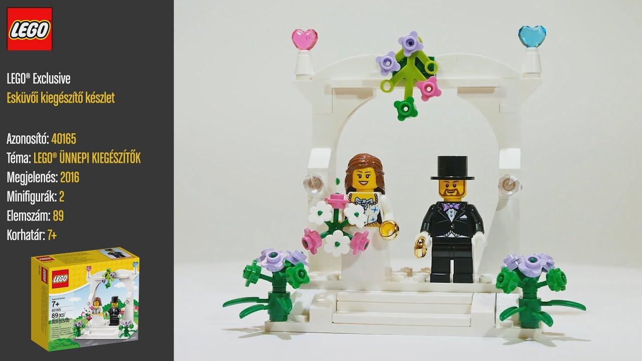 LEGO 40165 - LEGO Exclusive esküvői szett - Videó bemutató. LEGO Store  Budapest 092f5d4f67