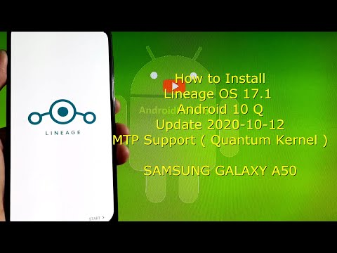 Lineage OS 17.1 for Samsung Galaxy A50 Android 10 Q - Update 2020-10-12