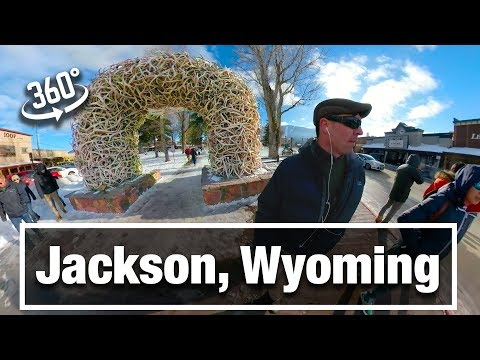 4K City Walks: Jackson, WY on a Winter Day in 360 VR Video