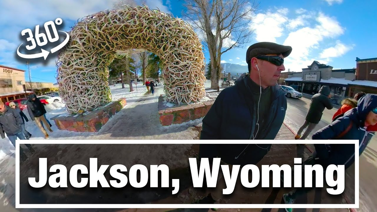 4K City Walks: Jackson, WY in Winter - A 360 VR Video Virtual Walking Tour