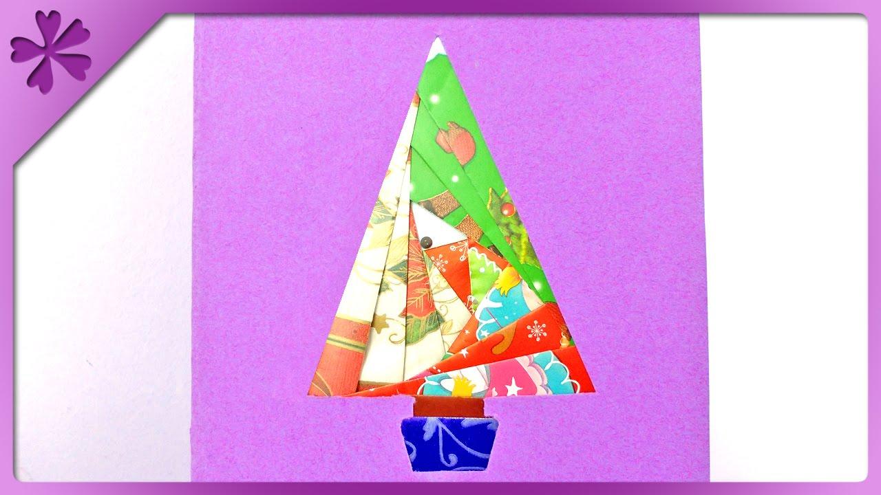 DIY Iris Folding Christmas Card ENG Subtitles Speed Up