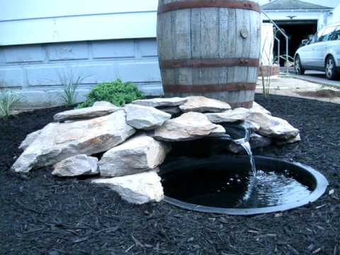 Completed small pond liner waterfall part 2 youtube for Small pond liner