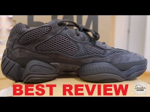 15164647703c adidas YEEZY 500 Utility Black Kanye West Sneaker REAL Review - WATCH  BEFORE YOU GET THEM!