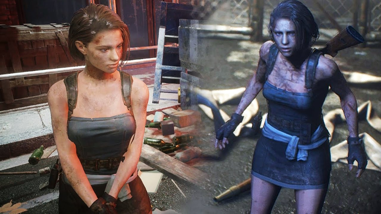Resident Evil 3 Remake Jill Valentine Classic Outfit Youtube