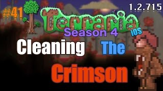 Let's Play Terraria (1.2.715) iOS- Cleaning the Crimson Biome! Episode 41