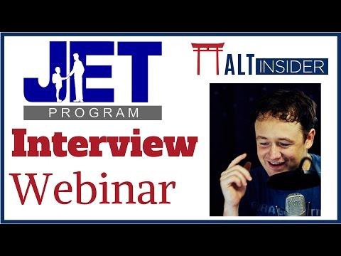 The JET Interview Webinar (2017)