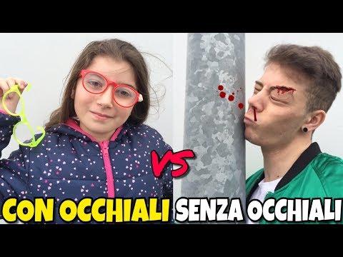 CON GLI OCCHIALI VS SENZA OCCHIALI