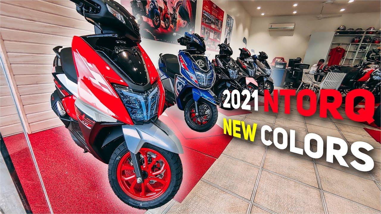 2021 TVS Ntorq 125 Series   New Colors   Ntorq Race XP Edition   Super Squad Edition   Lokesh Pimple