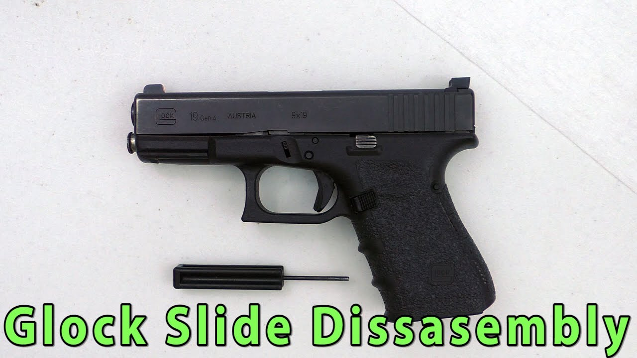 Glock Pistol Slide Breakdown And Reassembly Using The 19 Youtube Parts Diagram