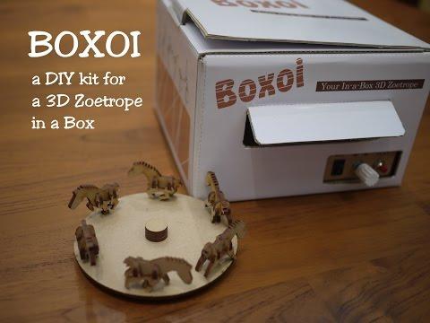 BOXOI - A 3D Zoetrope DIY Kit