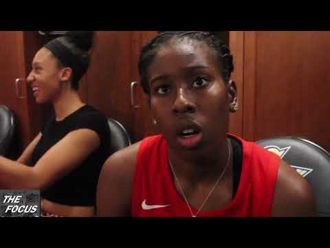 WNBA Playoffs- Washington Mystics vs LA Sparks - Ariel Atkins Post game