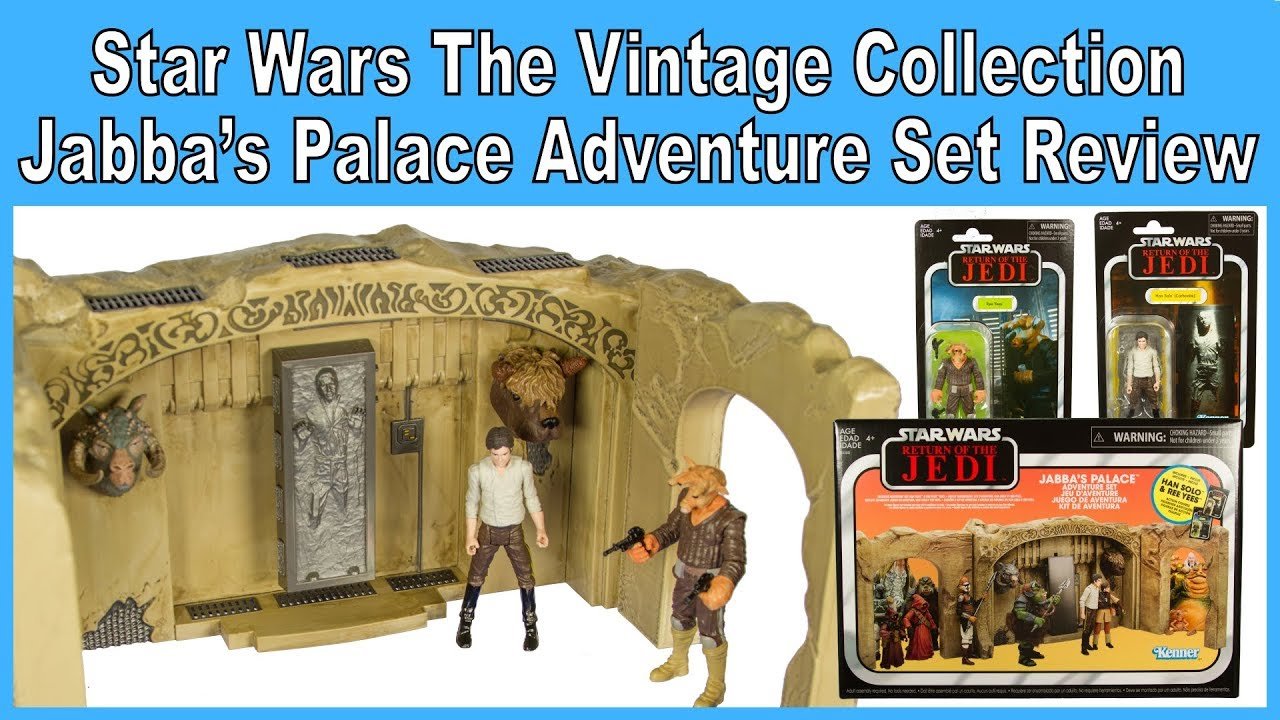 "Star Wars Vintage Collection 3.75/"" Jabba's Palace Han Solo Carbonite /& Ree Yees"