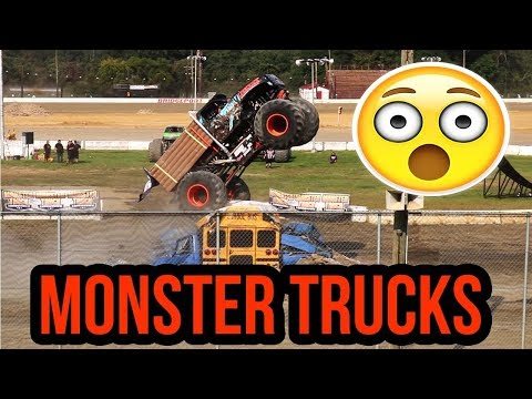 Destroying things with monster trucks at the bridgeport speedway in nnj