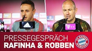 Two legends say goodbye | FC Bayern Press Conference w/ Rafinha & Arjen Robben