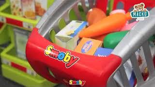 Gyerek üzlet SzuperMarket Smoby bevásárlókosárral
