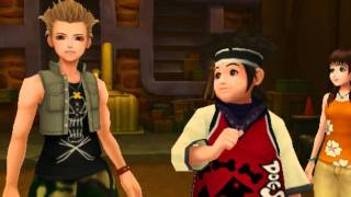 Kingdom Hearts II, English cutscene: 103 - A Message from Pence and Olette - HD 720p