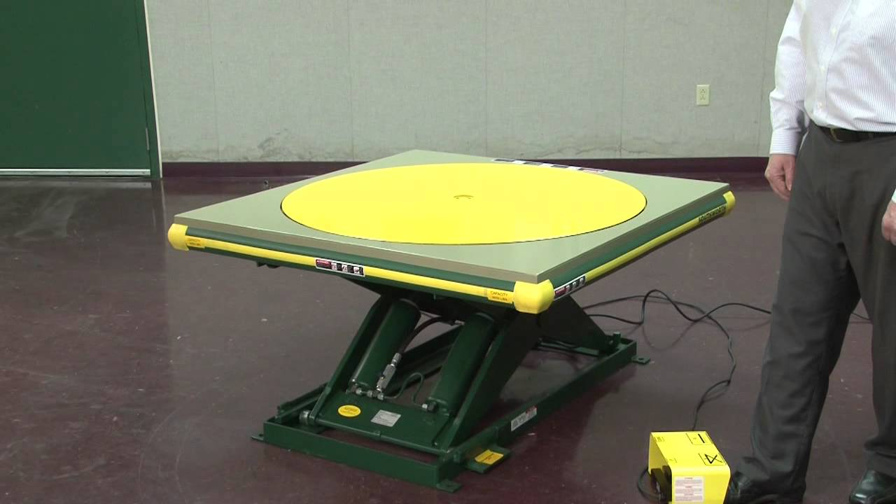 southworth products ls series lift table w turntable one minutesouthworth products ls series lift table w [ 1280 x 720 Pixel ]