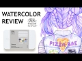"WATERCOLOR REVIEW + Drawing Process ""Pizza Bae"""