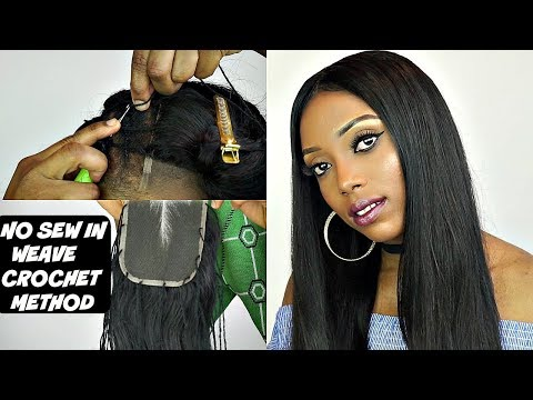 NO SEW IN WEAVE NO LEAVE OUT CROCHET WEAVE TUTORIAL | WIGGINS