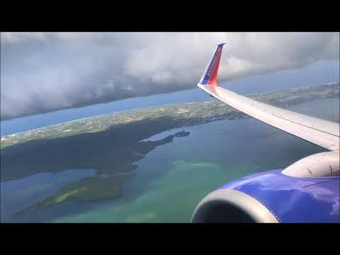 Southwest Airlines B737-700 Pushback & Departure from Grand Cayman and Approach & Arrival to FLL