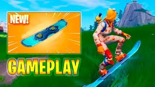 *Leaked* Driftboard GAMEPLAY - Fortnite New Snowboard