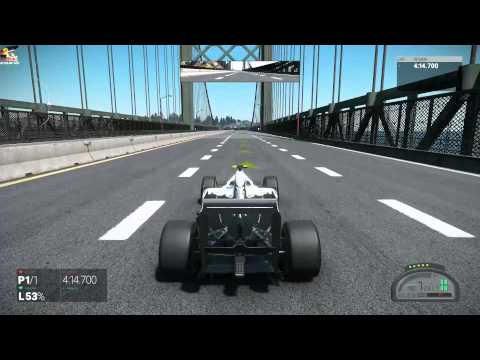 Project CARS F1 California Highway Full With Crash and Wheelie! 1080p60fps