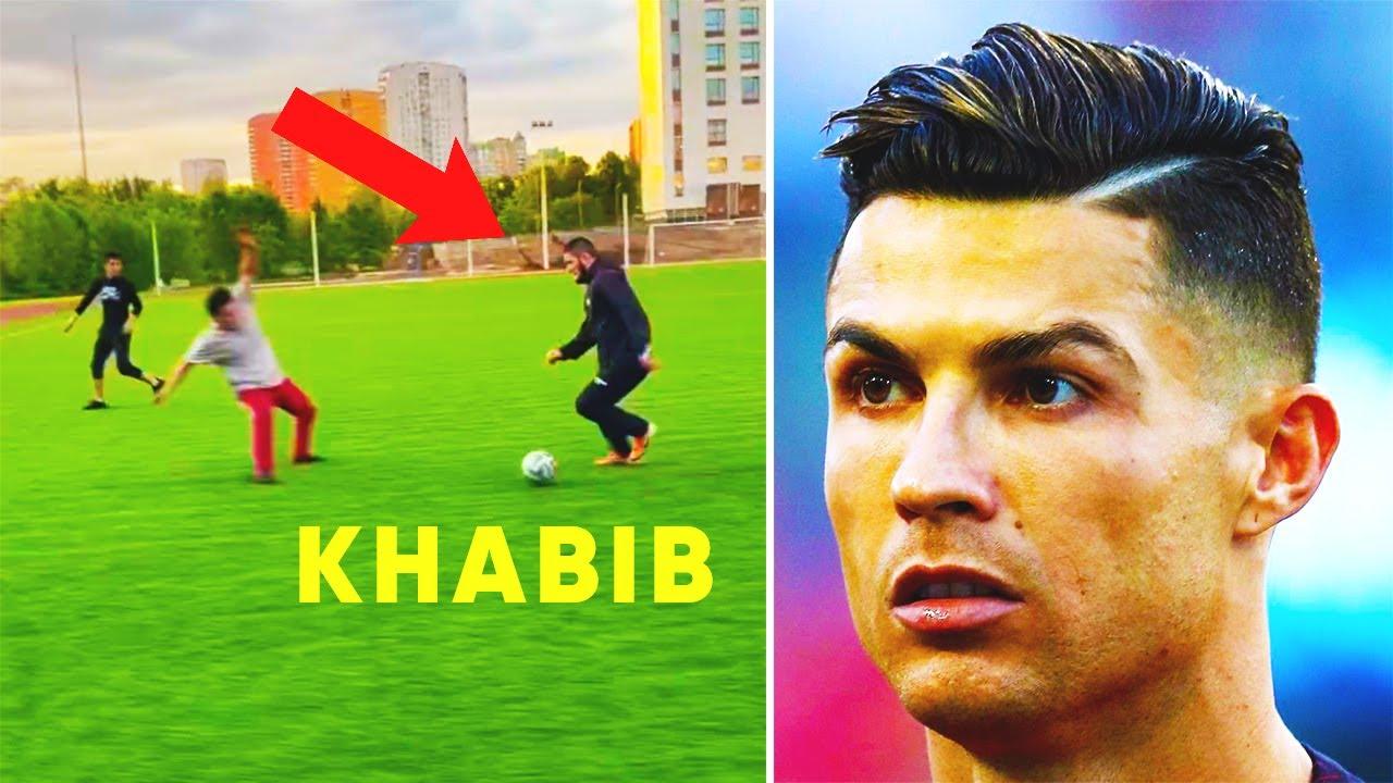 KHABIB SHOCKED RONALDO with his FOOTBALL SKILLS! KHABIB BECOME a FOOTBALLER?