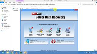 MiniTool Power Data Recovery with Personal, Enterprise and commercial (40) license working