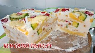 Cách làm kem chuối trái cây cực ngon giải khát mùa nóng