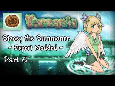Terraria 1.3.3 Expert Modded Summoner Let's Play Part 6 | Stacey vs Queen Bee!