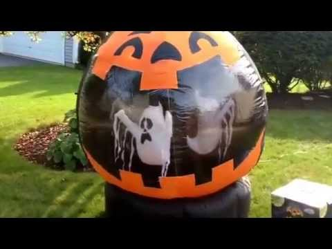 gemmy airblown inflatable rotating halloween globe