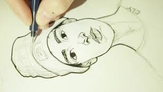 INKING Sketch Session #5  real time drawing