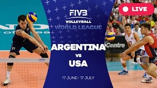 Argentina v United States - Group 1: 2016 FIVB Volleyball World League