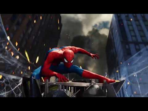 New spider-man ps4 intro (1994 spider-man animated series theme)