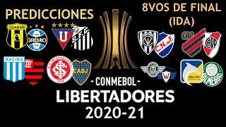 Copa Libertadores 2020-21 | 8vos de final (IDA) | Predicciones