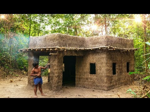 Clever Bushman Building King Mansion Modern Architecture Out Of Mud and Straw, Grass