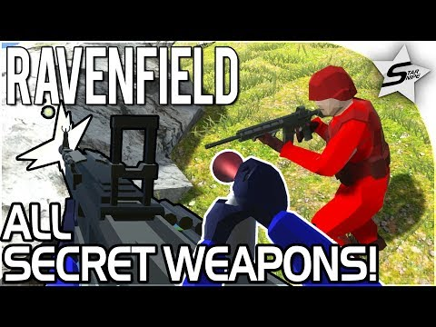 RAVENFIELD HOW TO GET ALL SECRET WEAPONS! - Secret HMG, PATRIOT, HYDRA, AIR HORN - Ravenfield Beta 6
