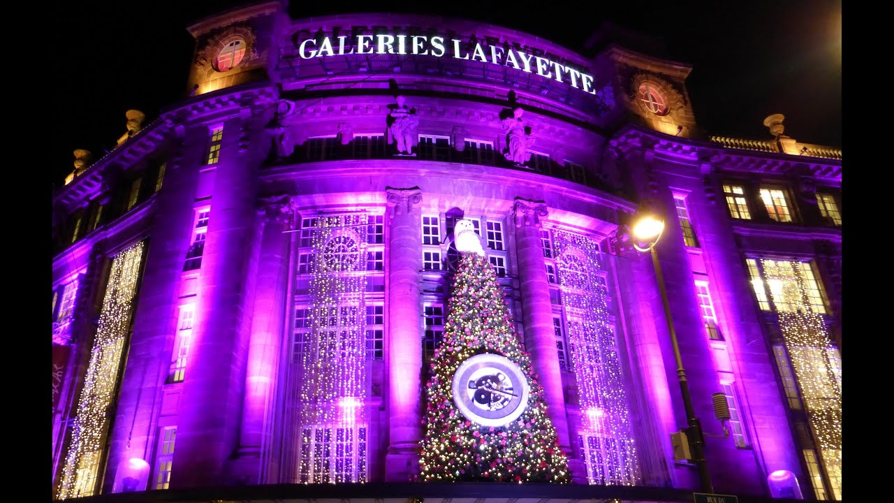 galeries lafayette d corations no l 2013 strasbourg illuminations de nuit youtube. Black Bedroom Furniture Sets. Home Design Ideas