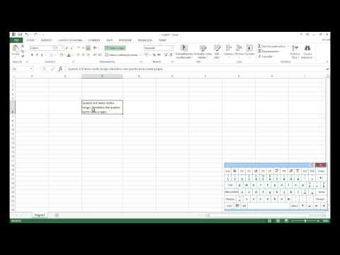 Excel: Come andare a capo nella cella